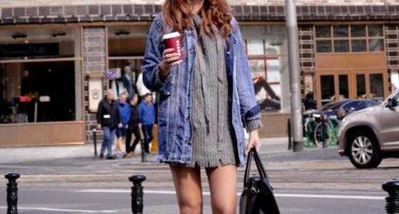 Stylizacja: sweterek sukienka