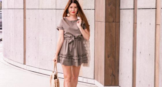 Stylizacja: sukienka kawowa